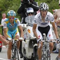 Contador and Andy climbing