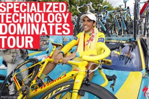 Contador with TdF Yellow Tarmac SL3