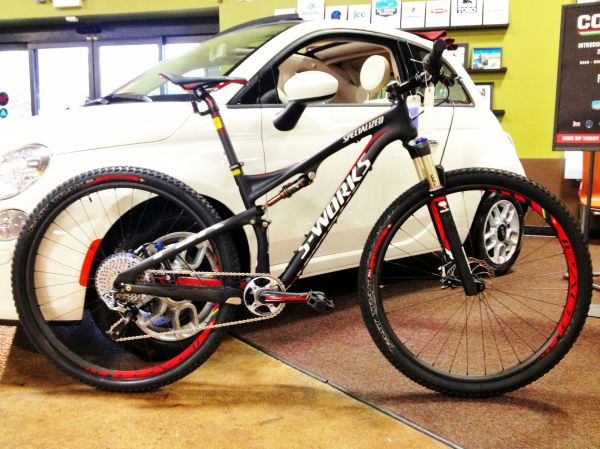 The Specialized Epic, here in S-Works trim, is a popular rig for the MTB racer.