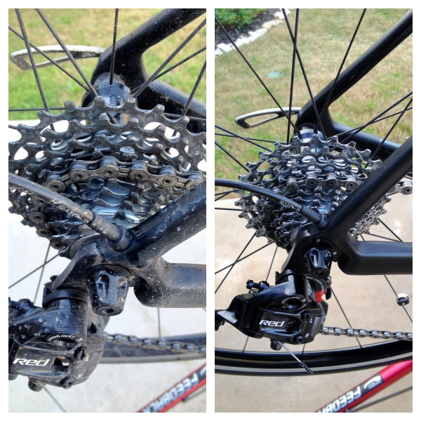 Even a quickly cleaned drivetrain can improve performance.