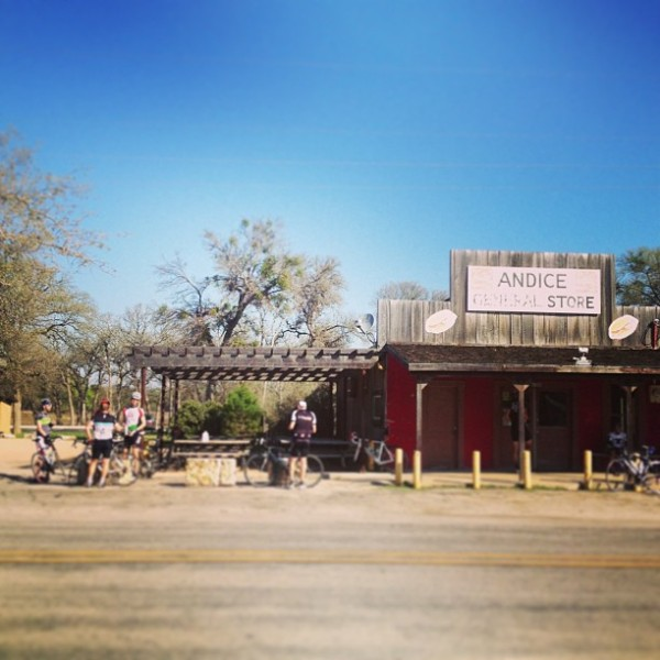 A stop at the Andice General Store. Standard procedure on the Saturday Parmer store ride.