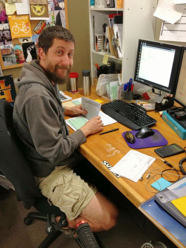 Our bicycle buyer, Scott orders every bike that you've ever seen for sale at the shop!