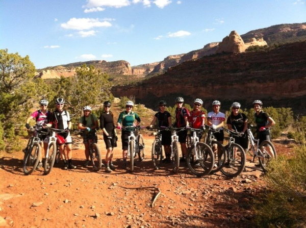 Rebecca and the crew in Fruita, CO.
