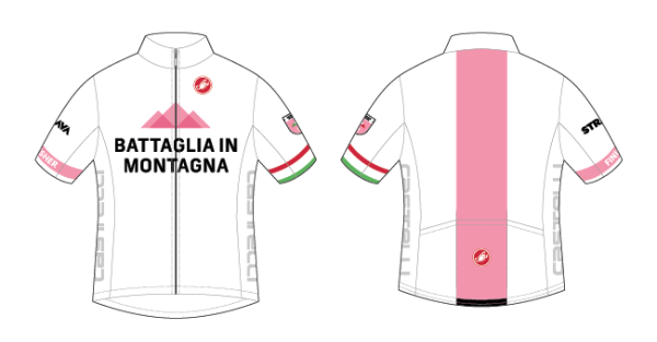 Battaglia in Montagna Challenge finishers will be eligible to purchase this limited-run jersey from Castelli.
