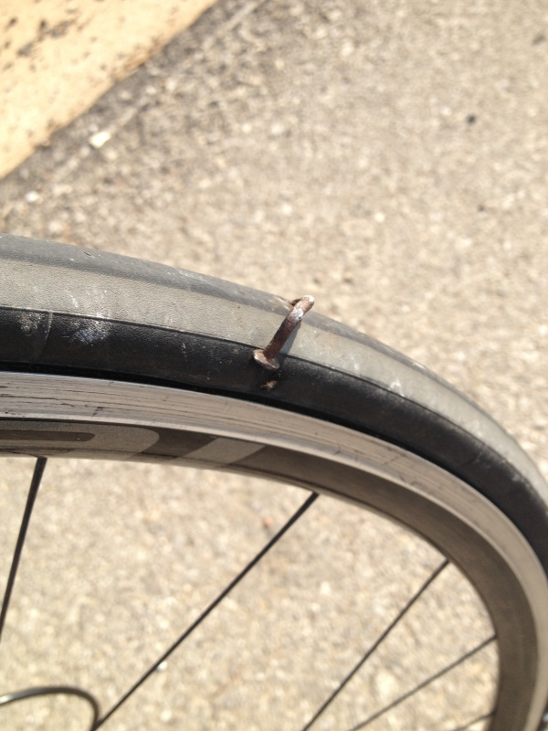 Just one puncture that remember. It was hard to forget though.