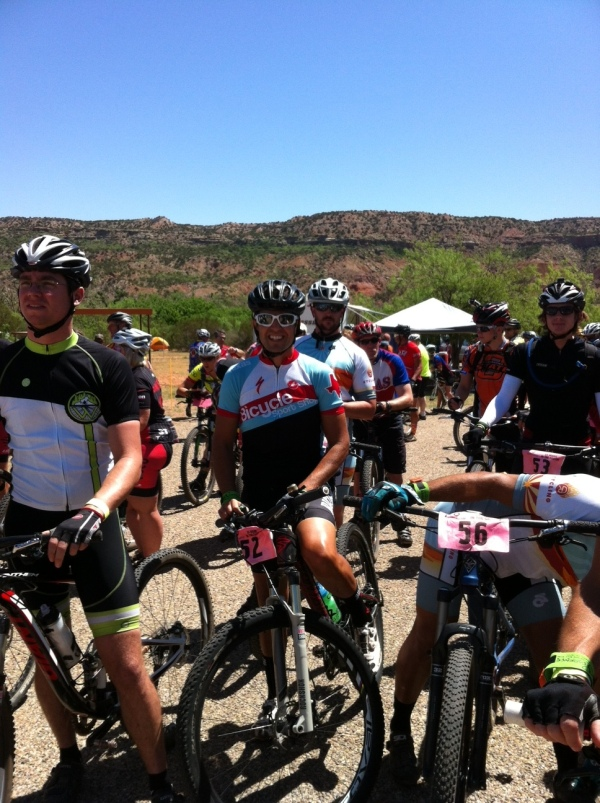 On the start line in Palo Duro!