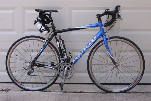 It's got a different saddle now, and the water bottles have been moved to the frame, but this is pretty much it.