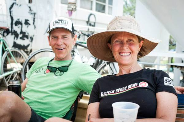 Hill and Laura, post 2013 Real Ale Ride. Photo by Susan Beth Photography.