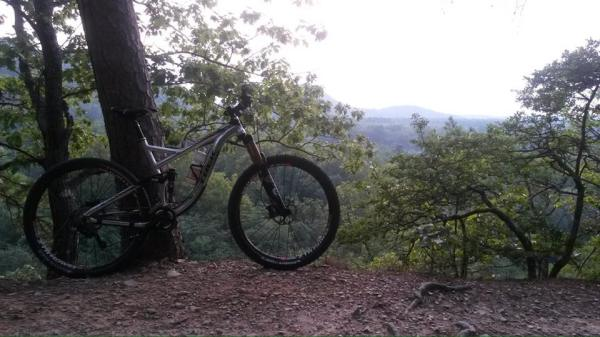 Eric loves to take bike photos. Here's his Remedy on the Womble Trail.