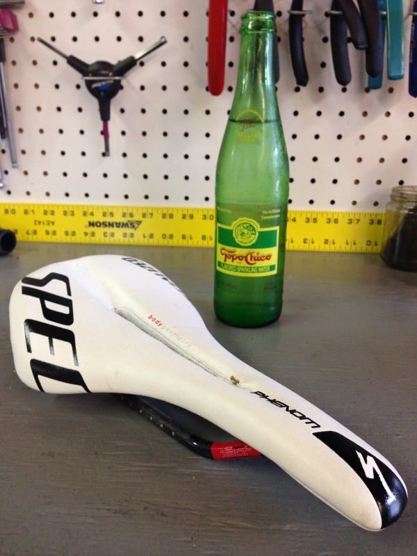 My normal saddle choice, the Specialized Phenom Pro.