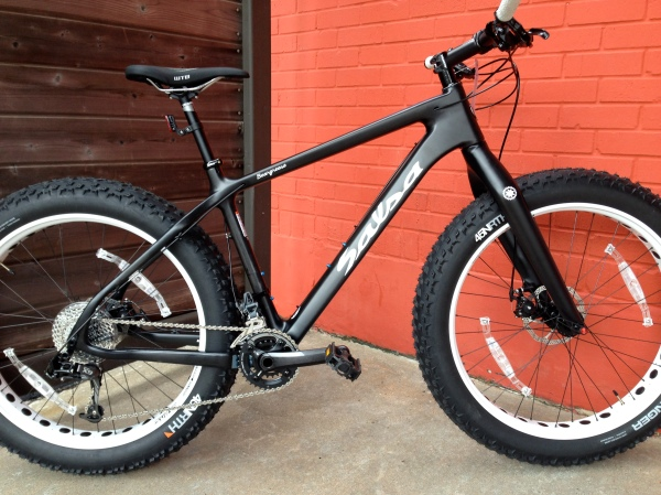 Perfect for the Greenbelt, or a White Christmas, the Salsa Carbon Beargrease. $3499.99 as shown.