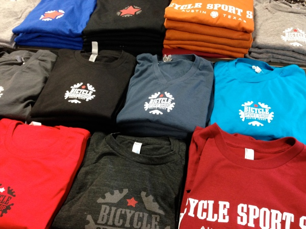 For before, during, or after the ride, the Bicycle Sport Shop t-shirt. $19.99