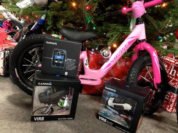 Garmin's excellent Edge 510 computer as well as their new Virb cameras will capture all your rides. From $299.99.
