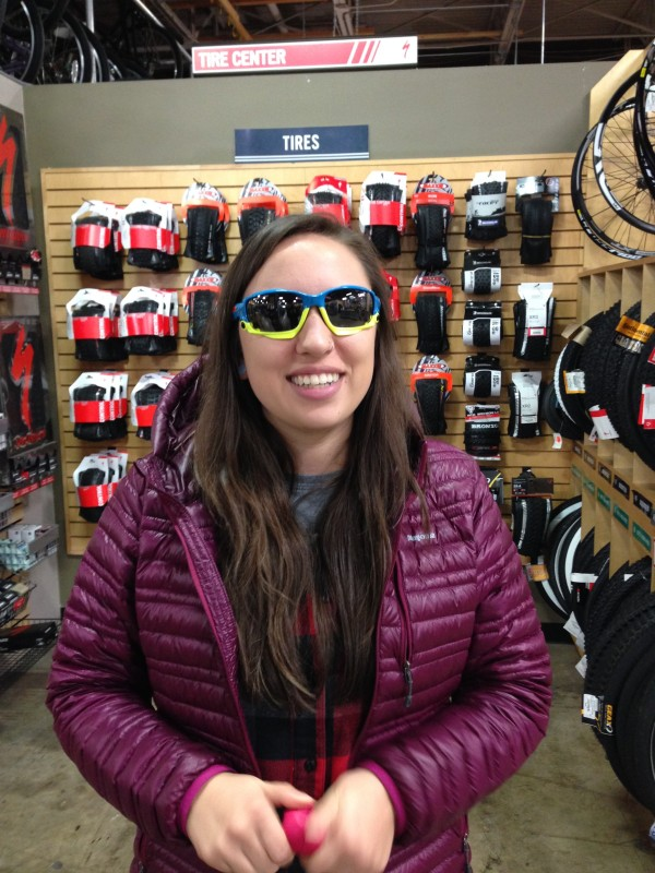 Ali sports Oakley's Racing Jacket ($240.00 as shown)  just one of the many frame options and colors available.