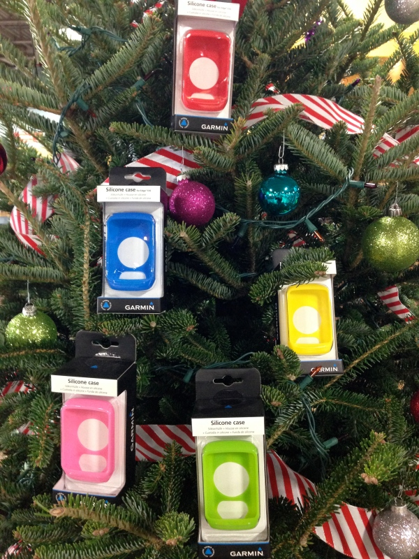 Silicone cases to protect your Garmin computer--or decorate your tree. $9.99