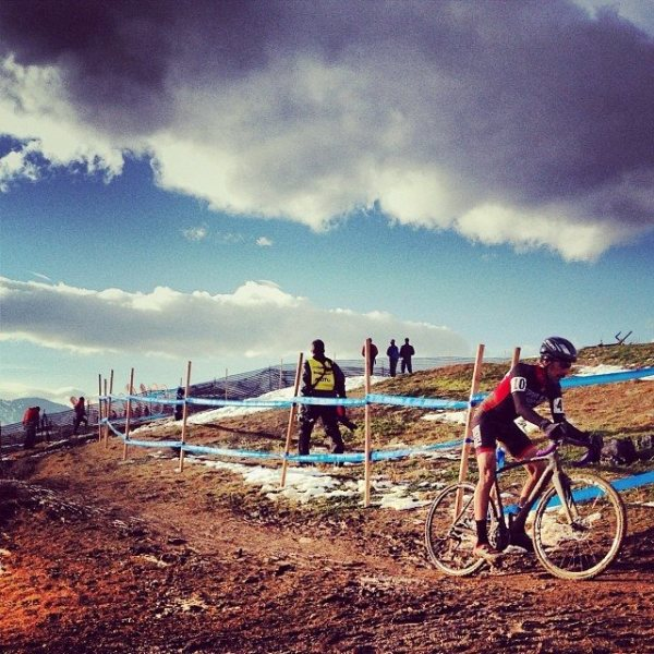 Joey makes easy work of the muddy off camber sections at nationals in Boulder earlier this month.