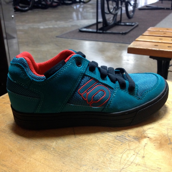 The Five Ten Freerider in teal is a head turner.