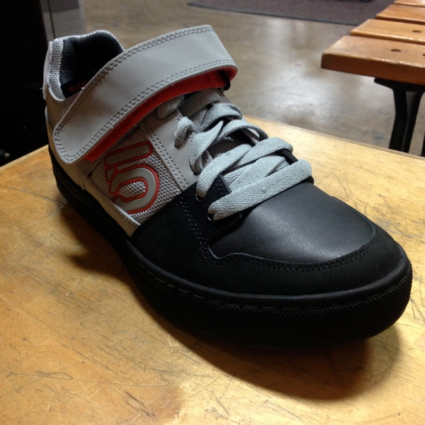 The Five Ten Hellcat--industry leading flat pedal shoe technology mated to clipless pedal capability.