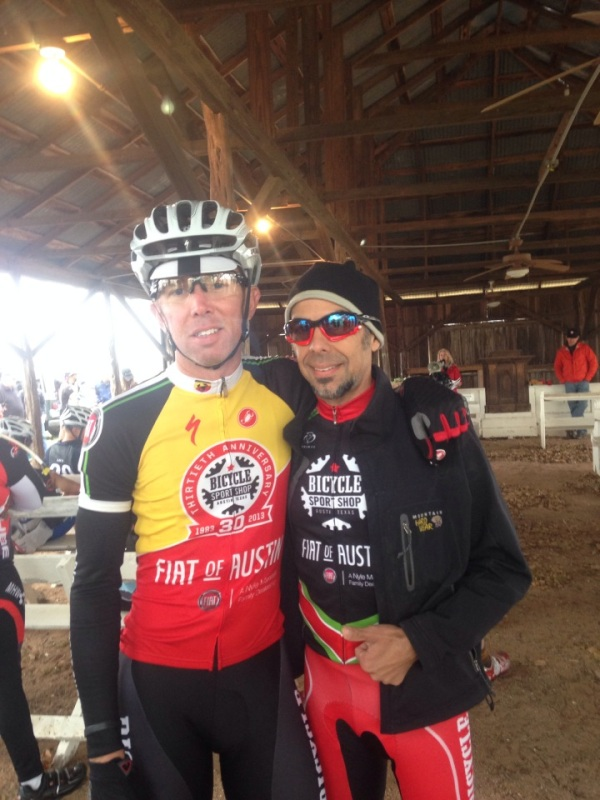 Me and Joey at the pre-race meeting.