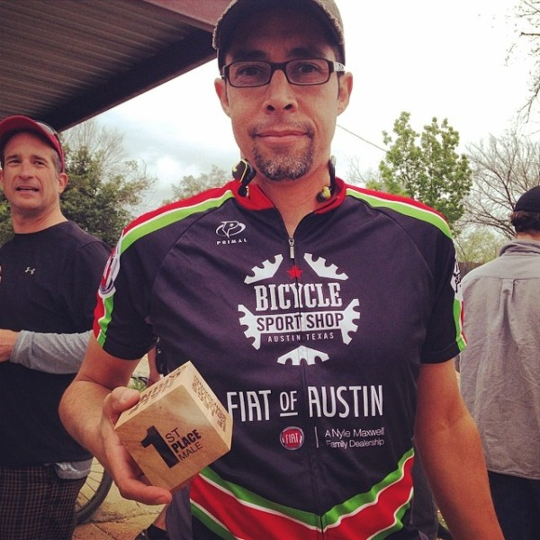 To the victor, goes the spoils. Dan took first in the 50k Half Grind!