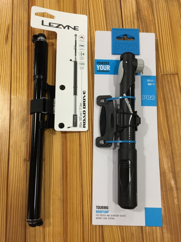 Both the Road Drive from Lezyne and the PRO Touring Mini Pump offer nice features and reliability.