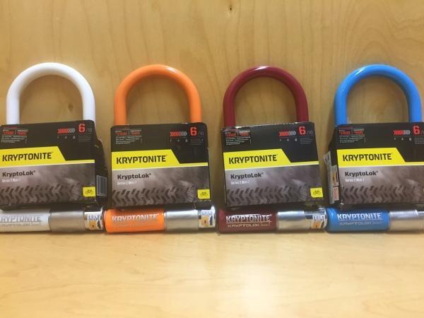 Kryptonite Series 2 Mini-7 locks secure your bike and look great in assorted colors.