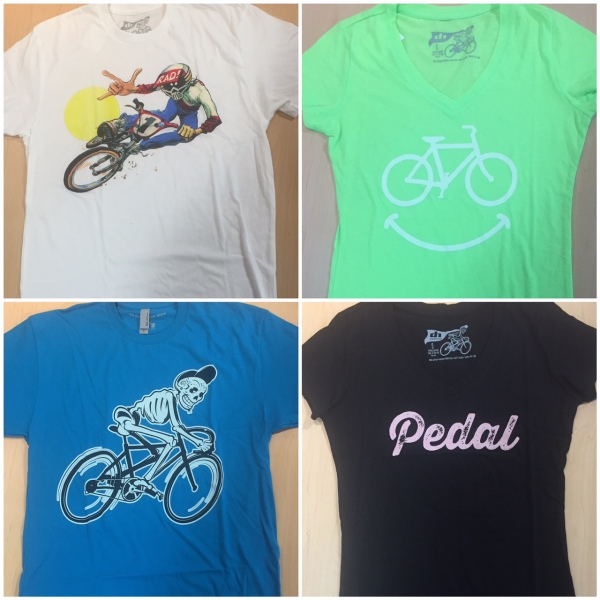 Fun graphic tees from DH let folks know you're going by bike.